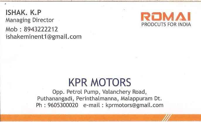 KPR ENTERPRISES and KPR MOTORS