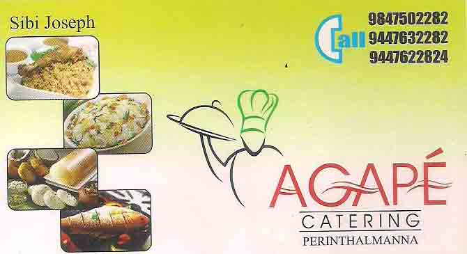 AGAPE catering services