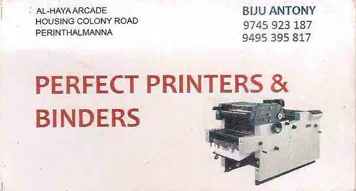 PERFECT PRINTERS AND BINDERS