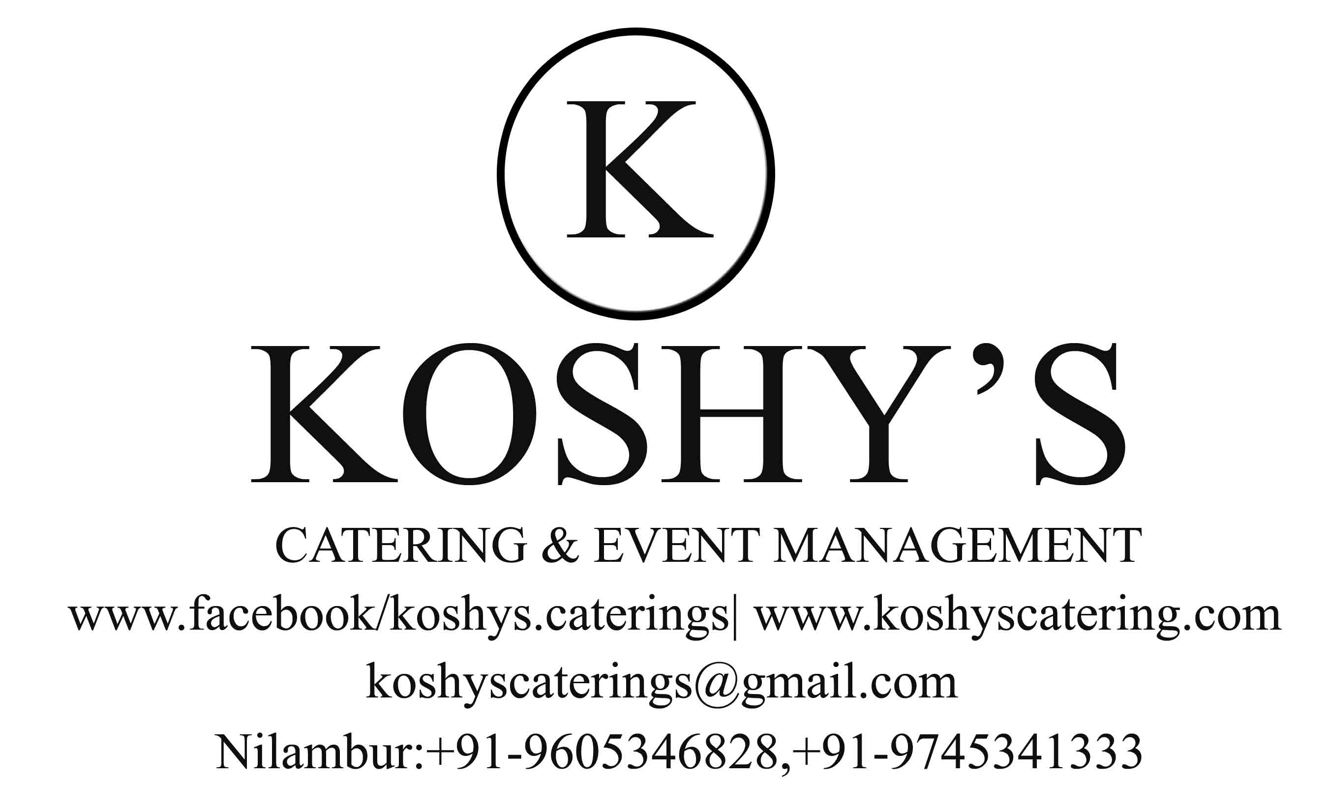KOSHY'S CATERING & EVENT MANAGEMENT