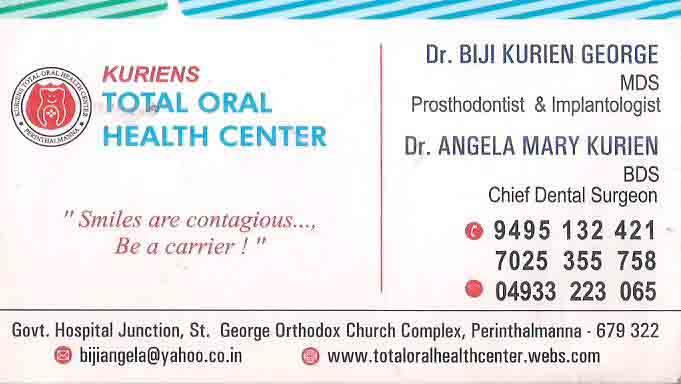 KURIENS TOTAL ORAL HEALTH CENTER